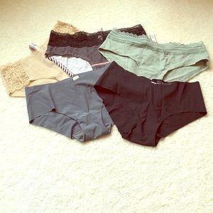 Set of 5 pairs Victoria's Secret hiphugger panties